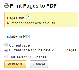 EBSCOhost Print Pages as PDF