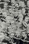 Photographic montage of Brethren leaders with names (detail).