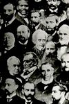 Photographic montage of Brethren leaders (detail).