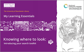 Screenshot of the My Learning Essentials: Your search toolkit booklet