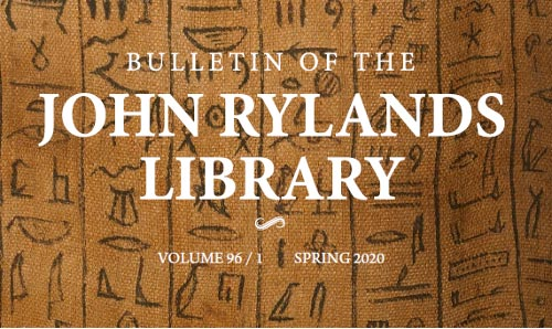 Cover of Bulletin of the John Rylands Library