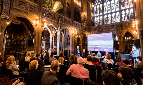 A research event taking place at Rylands.