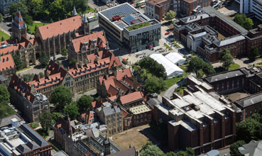 Aerial view of The Library