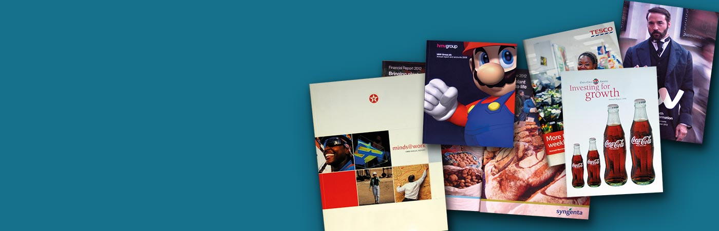 Collage of company annual reports