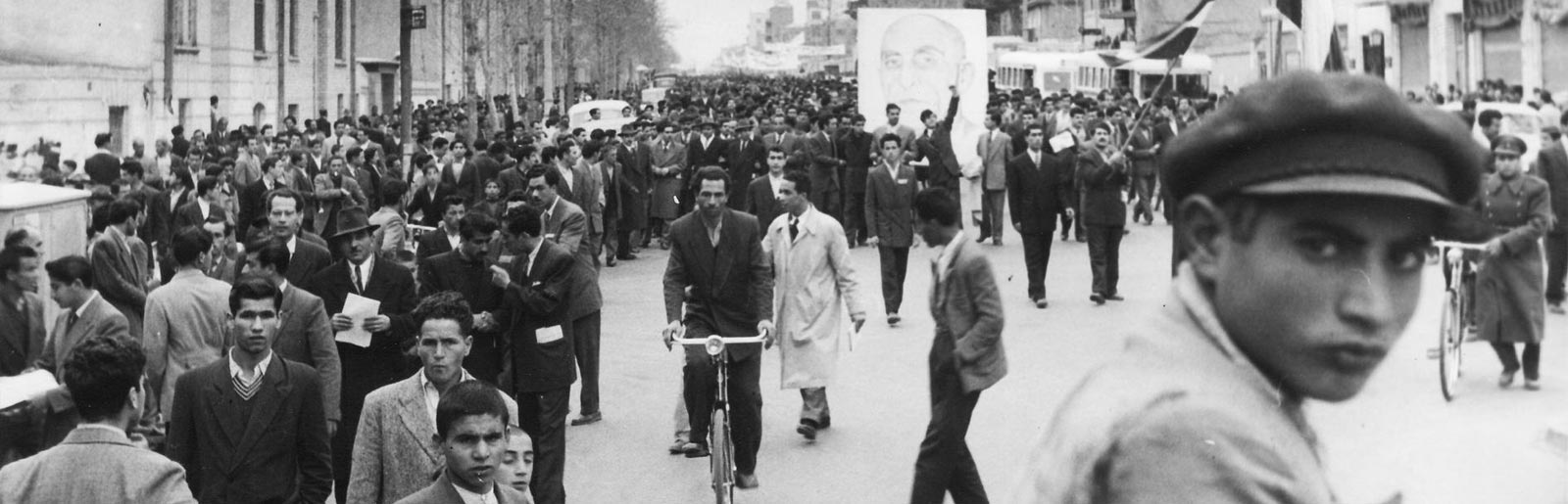 Busy Iranian Street, vintage photograph