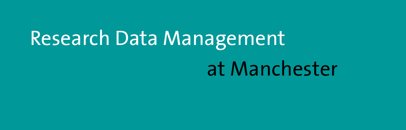 Research Data Management at Manchester